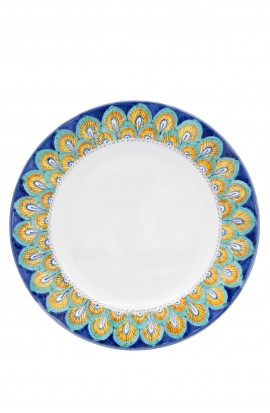 Piatto Pavone blu, Pavone arancio o trina