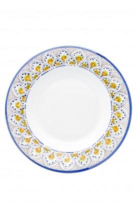 Piatto Pavone blu