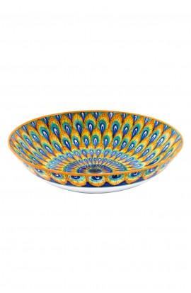 Ciotola in ceramica fine – Pavone Arancio