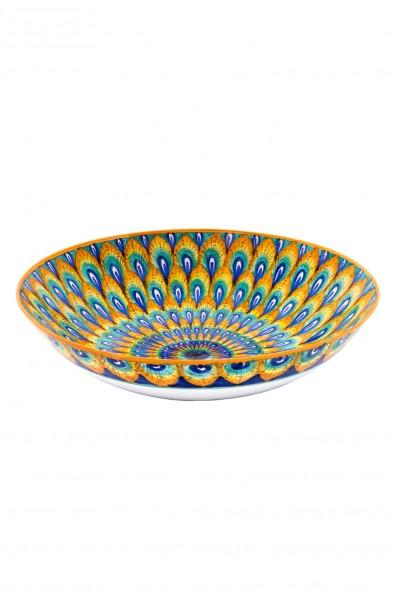 Ciotola in ceramica fine cm 25 – Pavone Arancio