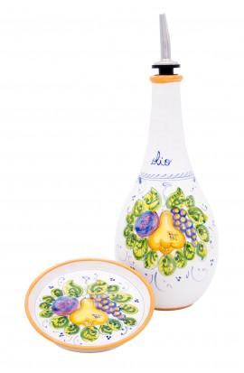 Bottiglia olio con piattino Autunno