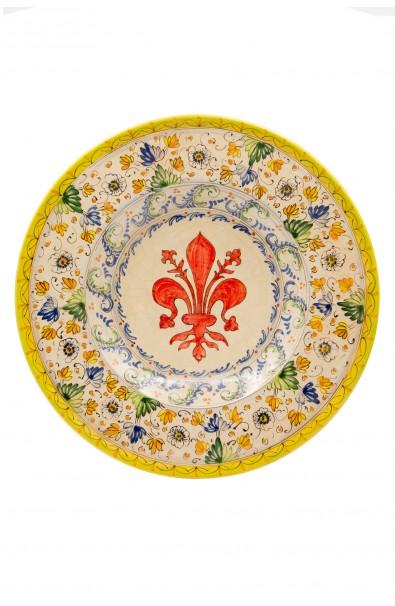 Piatto ceramica artistica – Giglio e Aster