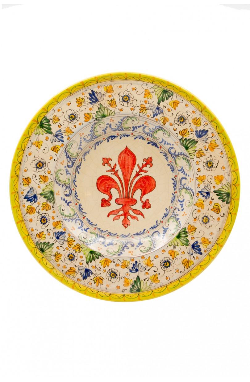 Piatto decorativo sbigoli terrecotte bottega artigiana firenze - Piatti decorativi ...