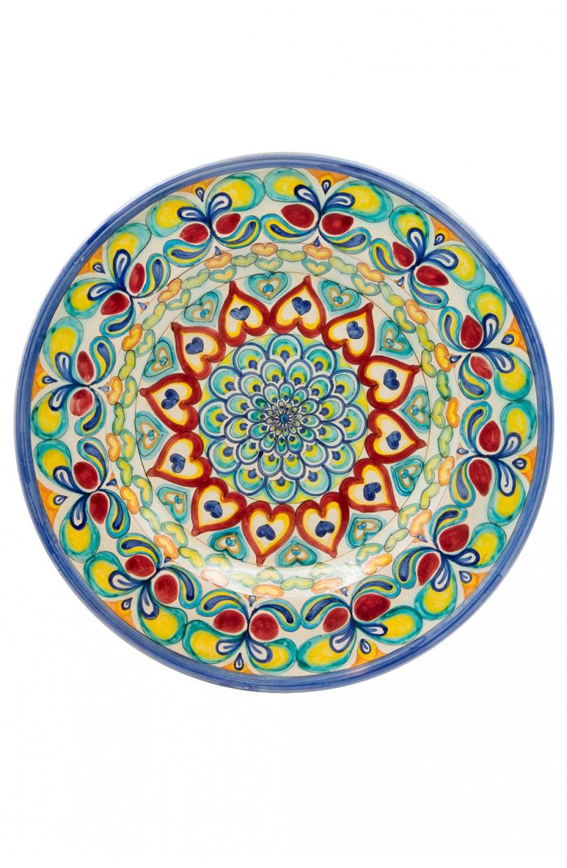 Piatto da parete decorato a mano sbigoli terrecotte firenze - Piatti decorativi ...
